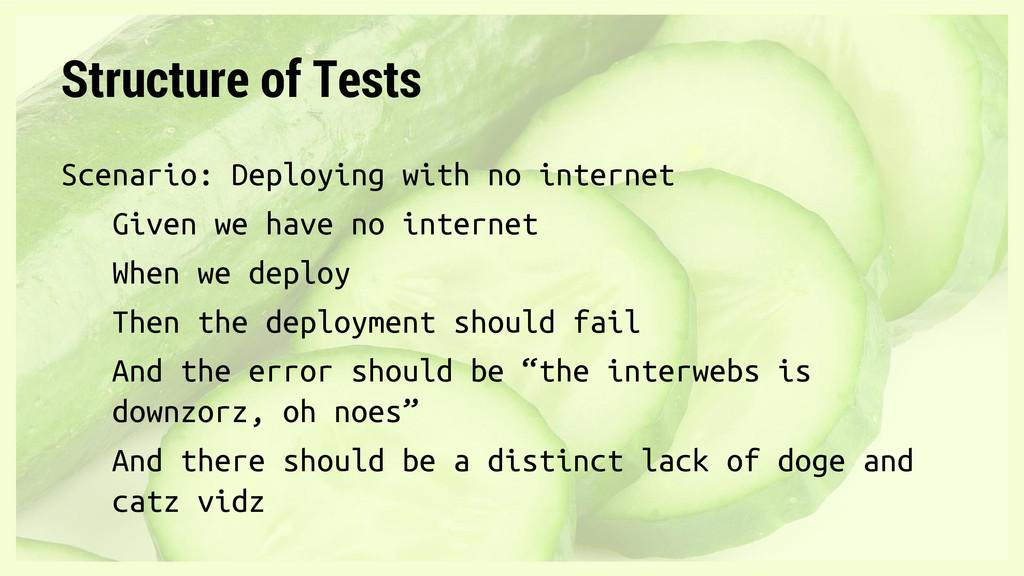 Scenario: Deploying with no internet Given we h...
