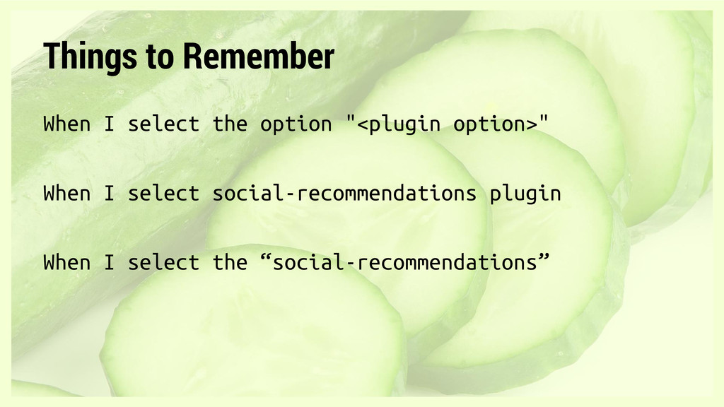 """Things to Remember When I select the option """"<p..."""