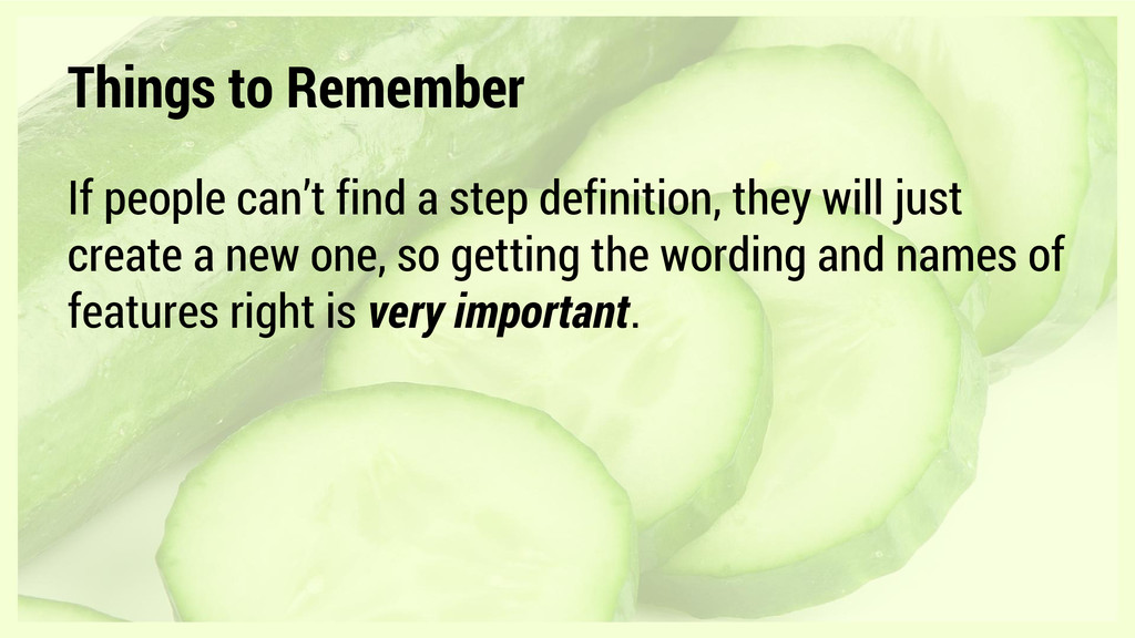Things to Remember If people can't find a step ...