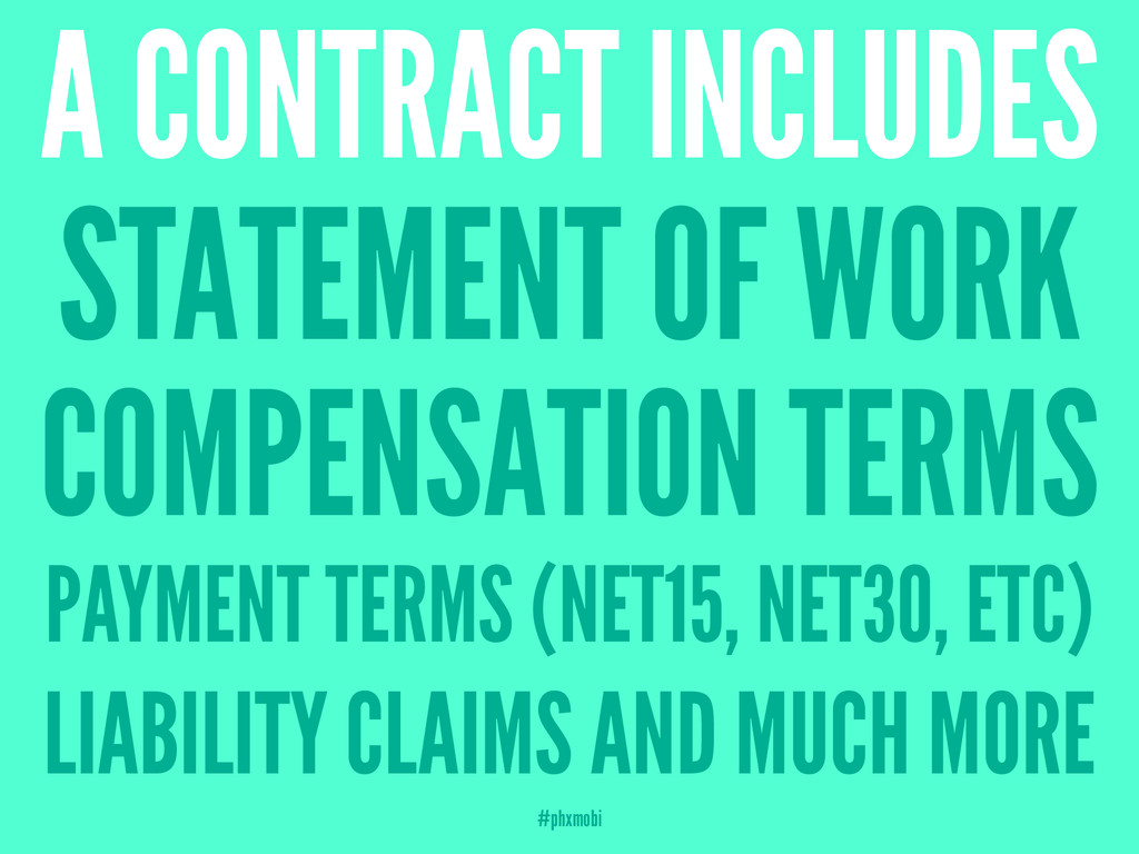 A CONTRACT INCLUDES STATEMENT OF WORK COMPENSAT...