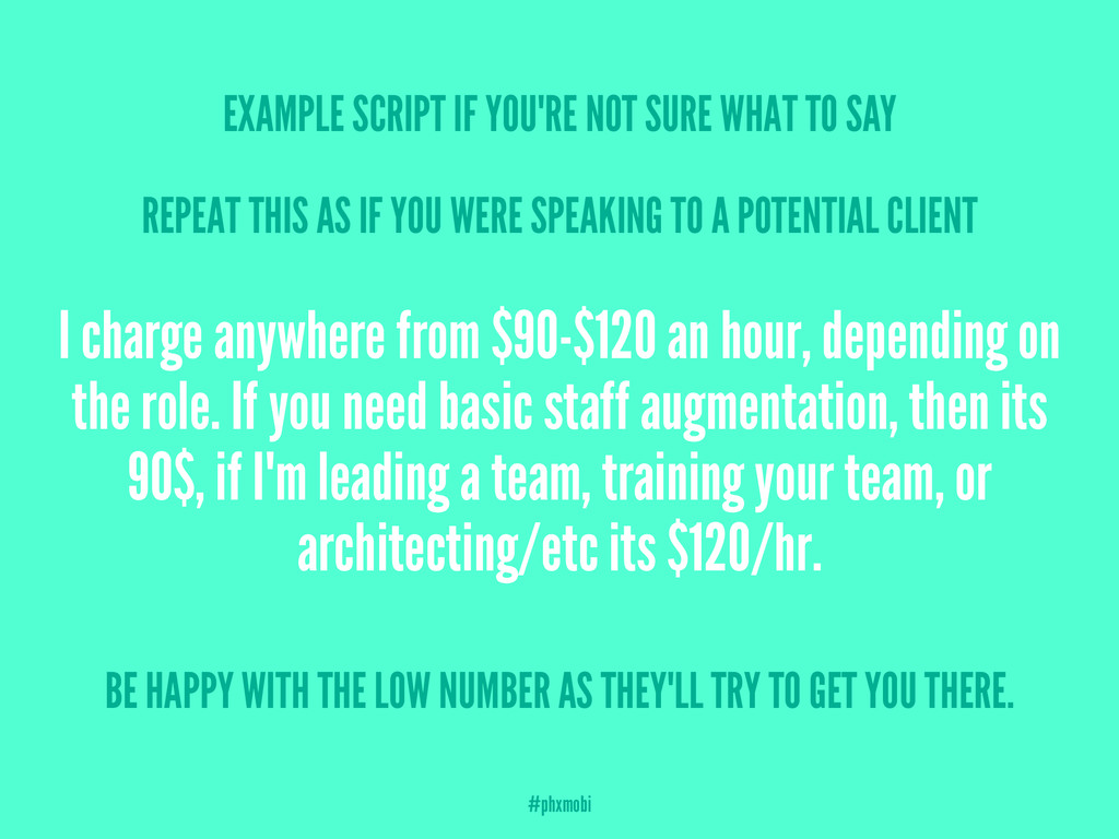 EXAMPLE SCRIPT IF YOU'RE NOT SURE WHAT TO SAY R...