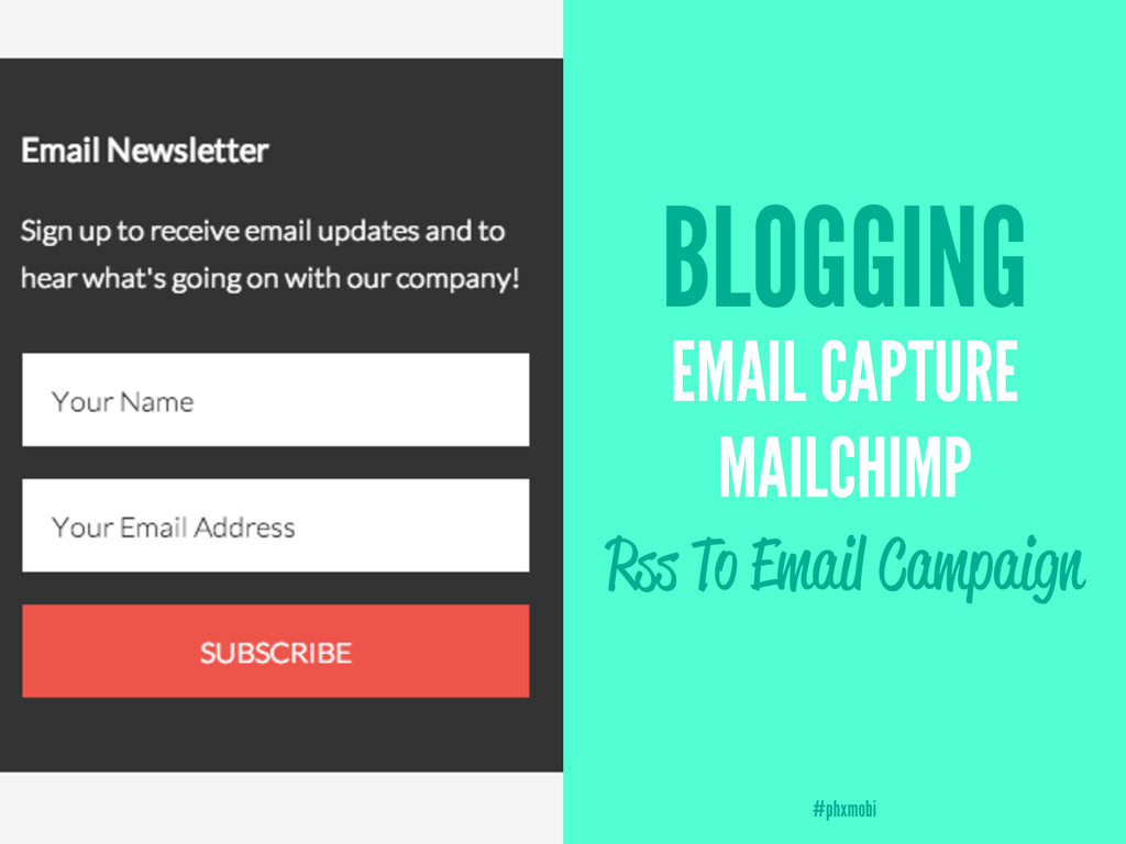BLOGGING EMAIL CAPTURE MAILCHIMP Rss To Email C...