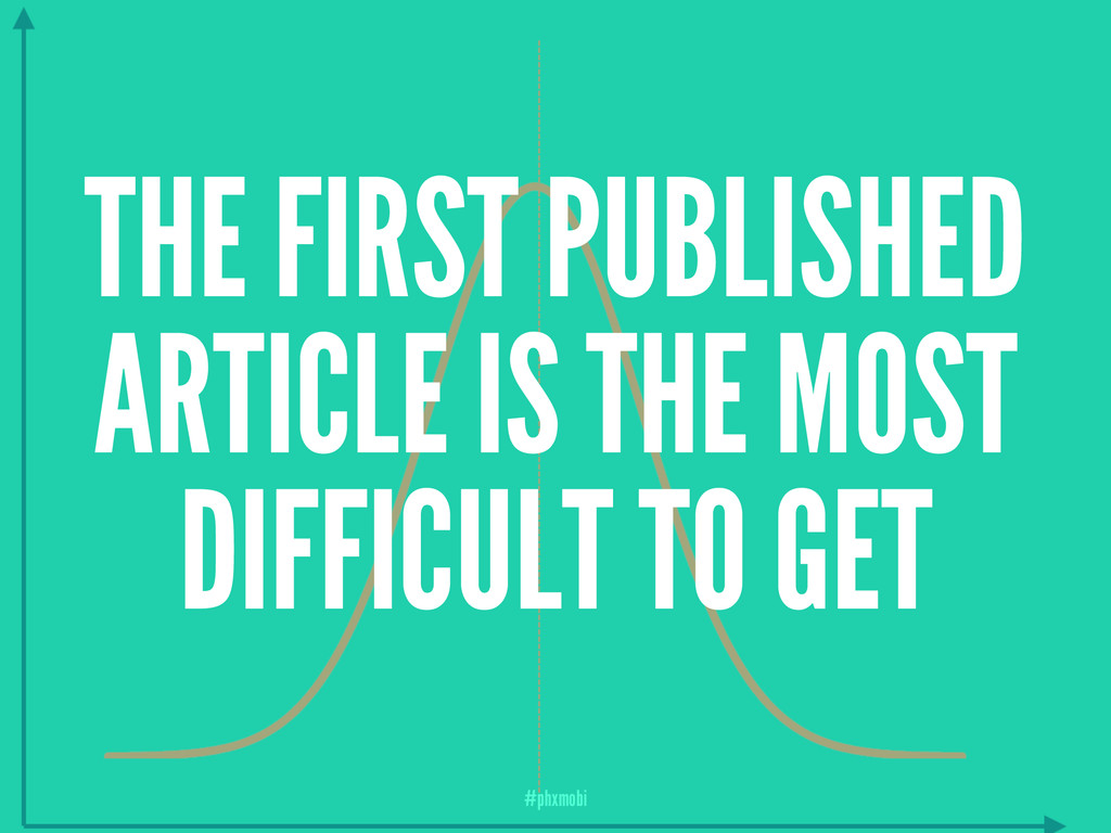 THE FIRST PUBLISHED ARTICLE IS THE MOST DIFFICU...
