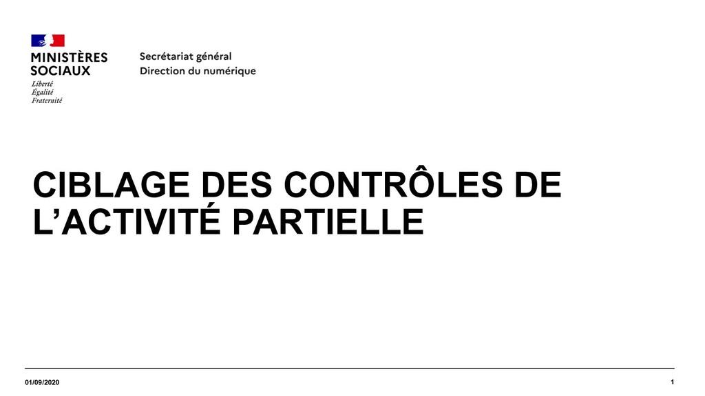 CIBLAGE DES CONTRÔLES DE L'ACTIVITÉ PARTIELLE 0...