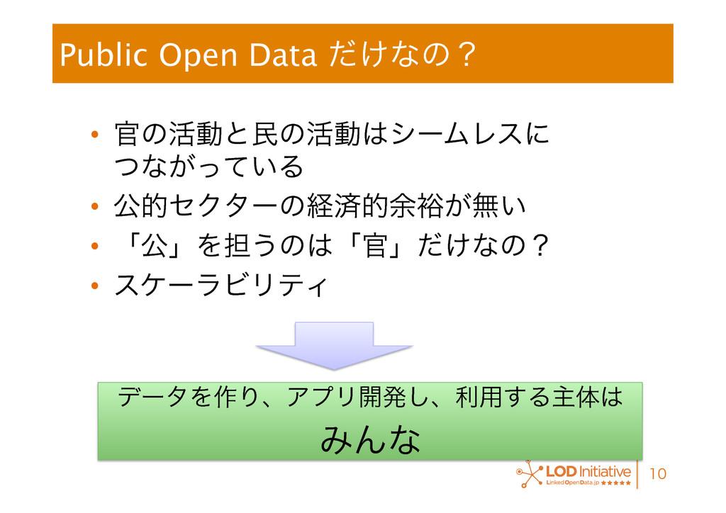 Public Open Data ͚ͩͳͷʁ • ͷ׆ಈͱຽͷ׆ಈγʔϜϨεʹ ͭͳ...