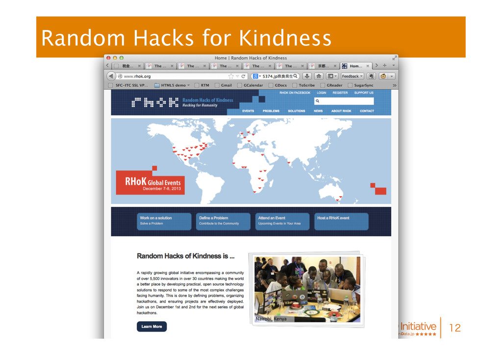 Random Hacks for Kindness
