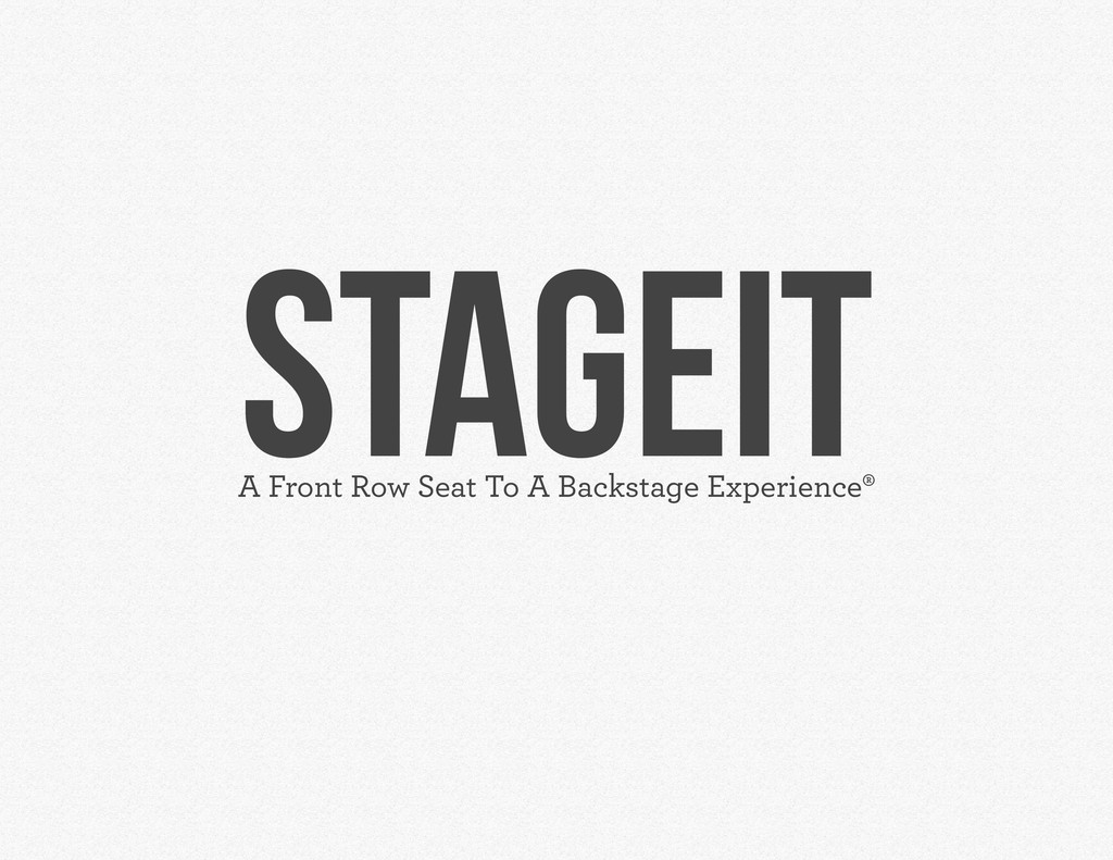 STAGEIT A Front Row Seat To A Backstage Experie...