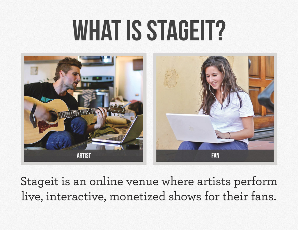 Stageit is an online venue where artists perfor...
