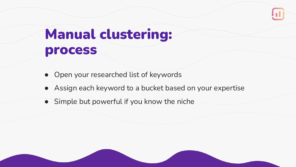 Manual clustering: process ● Open your research...