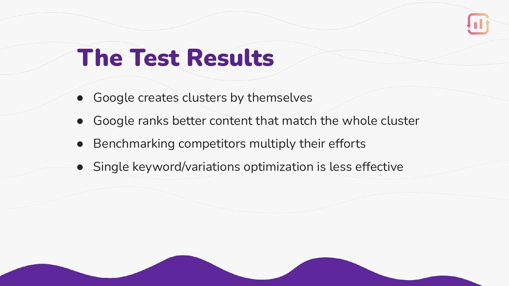 ● Google creates clusters by themselves ● Googl...