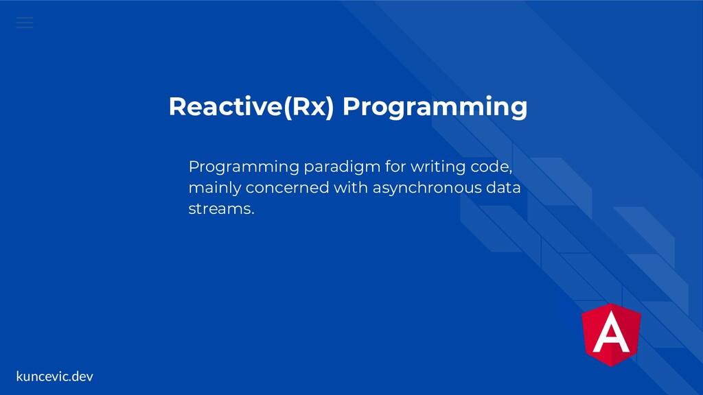 kuncevic.dev Reactive(Rx) Programming Programmi...