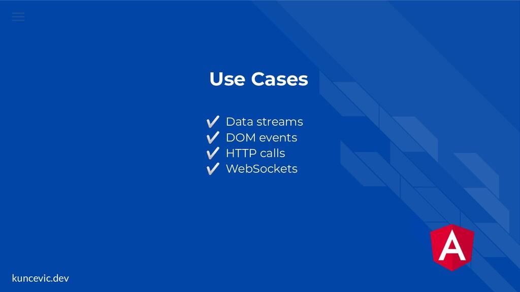 kuncevic.dev Use Cases ✅ Data streams ✅ DOM eve...