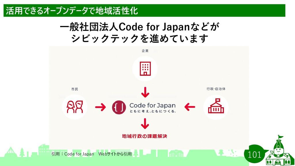 101 活用できるオープンデータで地域活性化 一般社団法人Code for Japanなどが ...