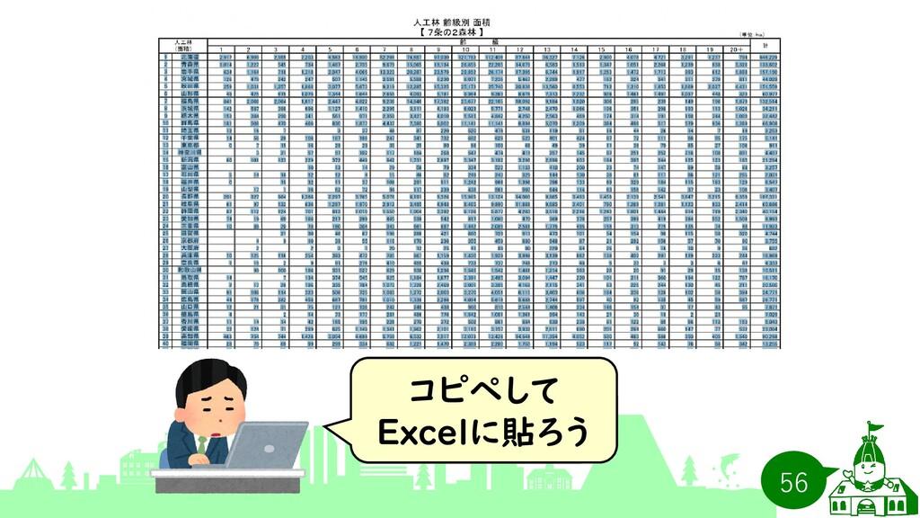 コピペして Excelに貼ろう 56