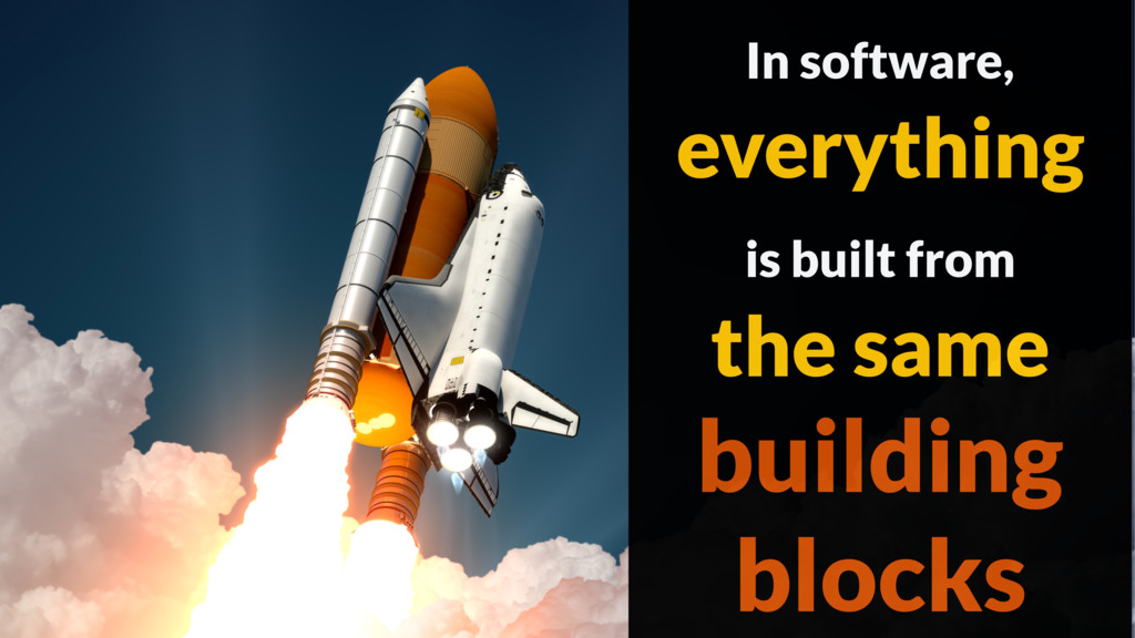 In software, everything is built from the same ...