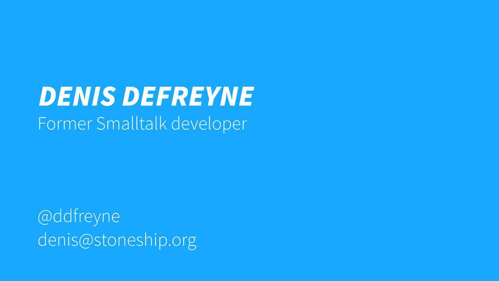 @ddfreyne denis@stoneship.org Denis Defreyne Fo...