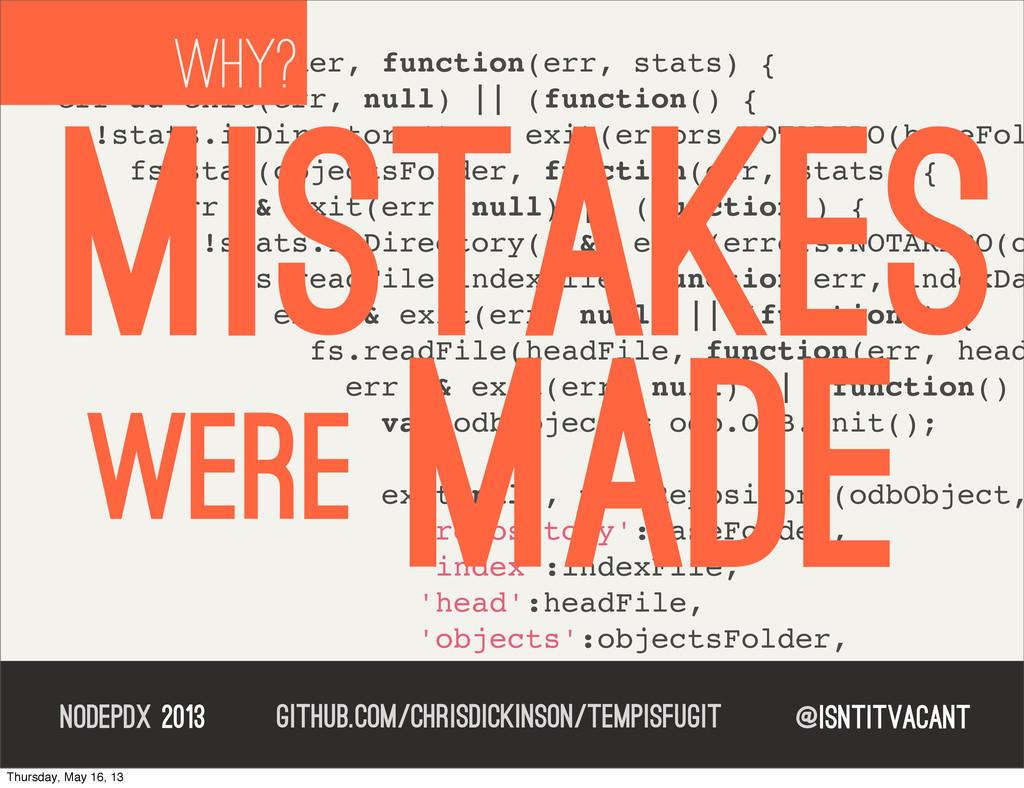 @isntitvacant NODEPDX 2013 fs.stat(baseFolder, ...