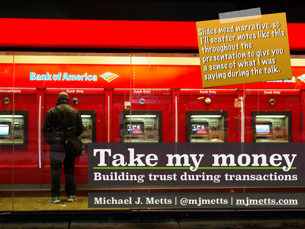 Building trust during transactions Michael J. M...