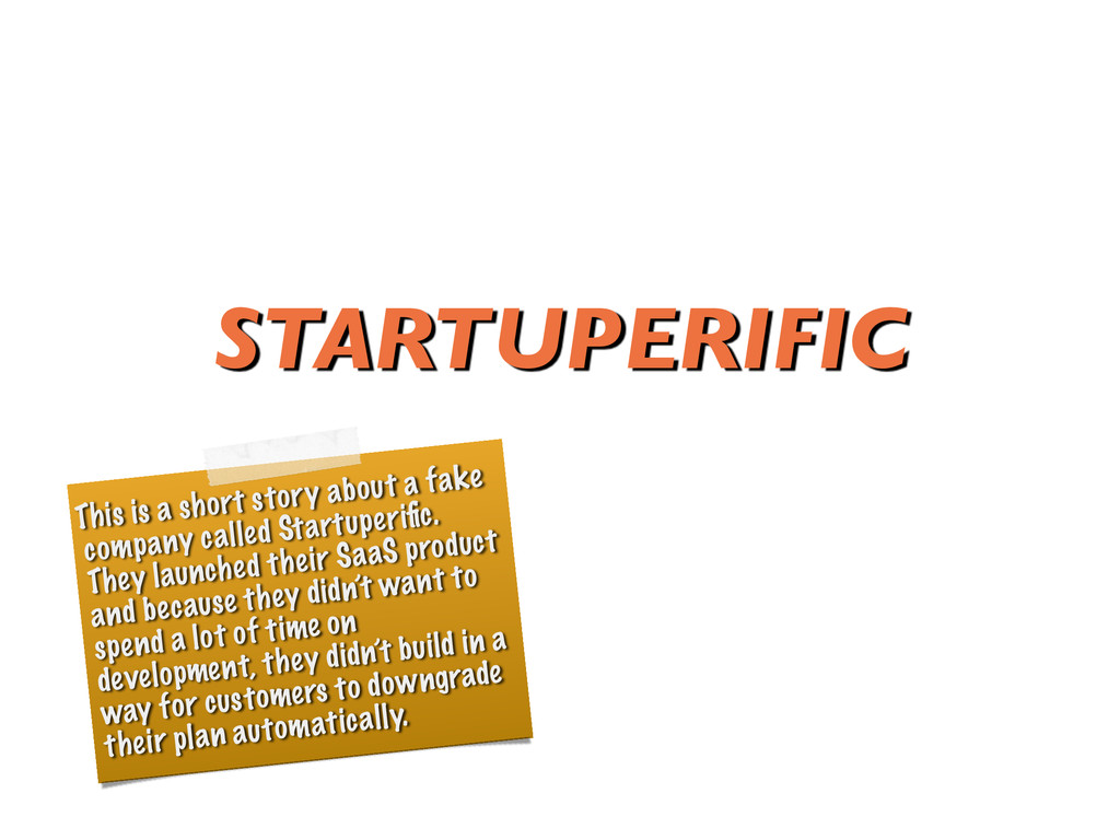 STARTUPERIFIC This is a short story about a fak...