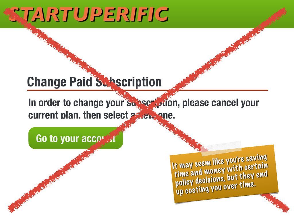 STARTUPERIFIC Change Paid Subscription In order...