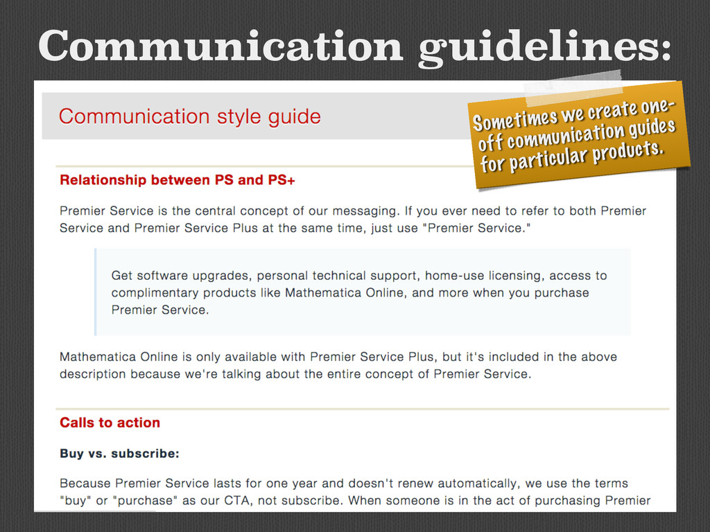 Communication guidelines: Sometimes we create o...