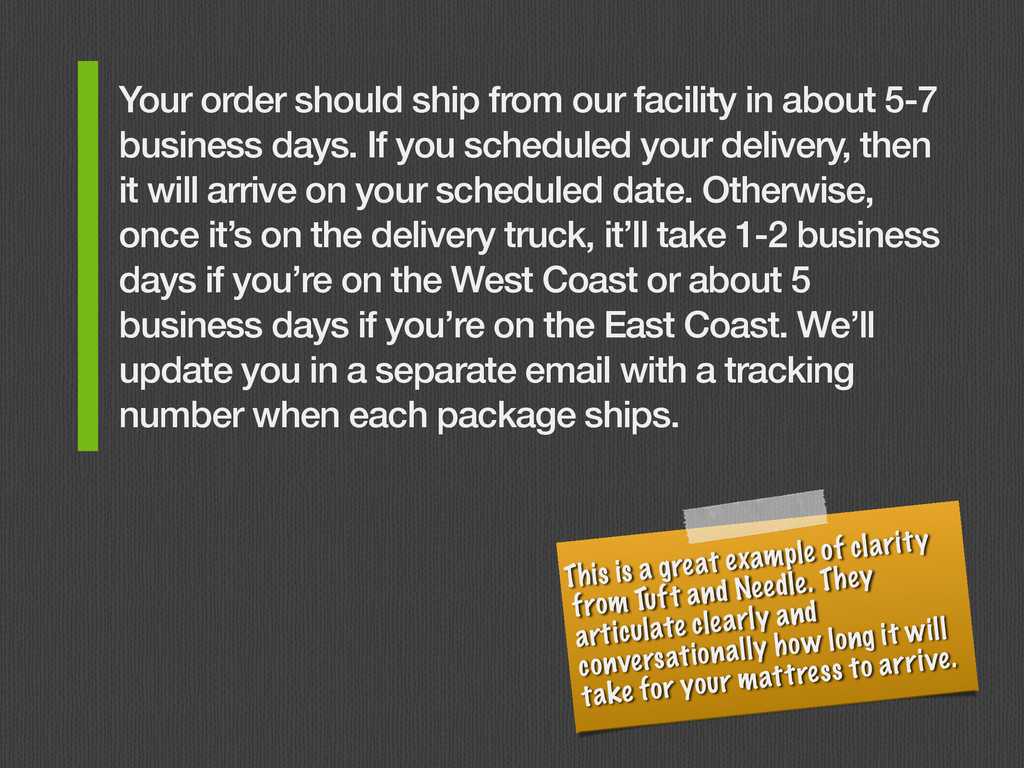 Your order should ship from our facility in abo...