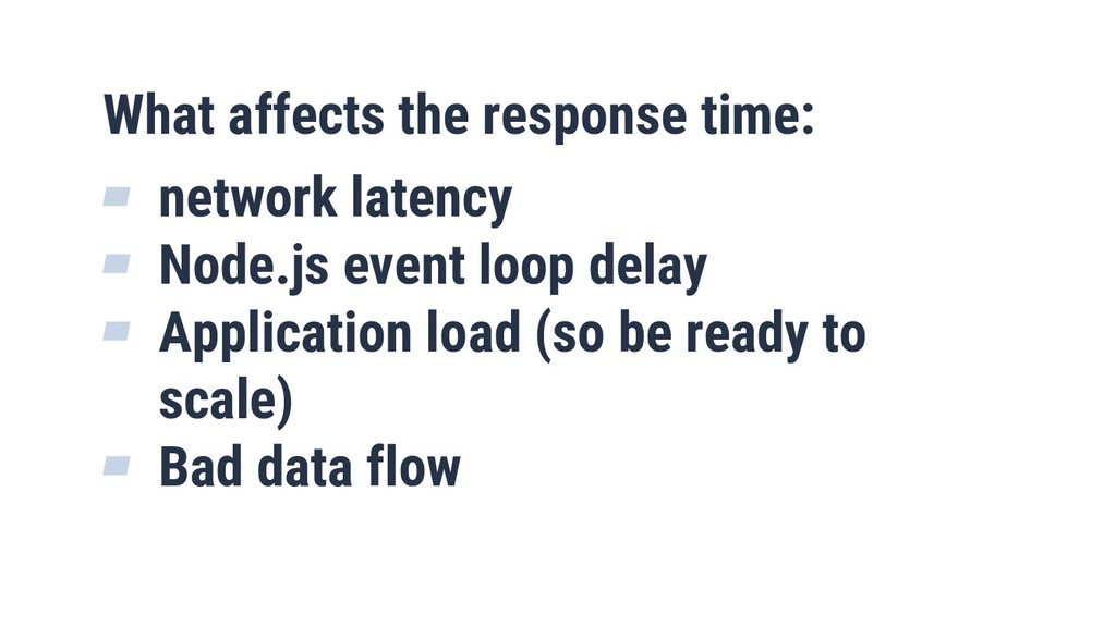 10 What affects the response time: ▰ network la...