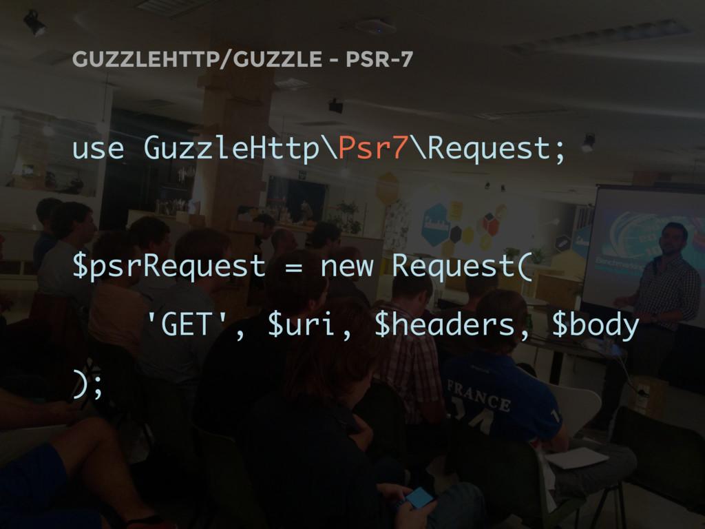 GUZZLEHTTP/GUZZLE - PSR-7 use GuzzleHttp\Psr7\R...