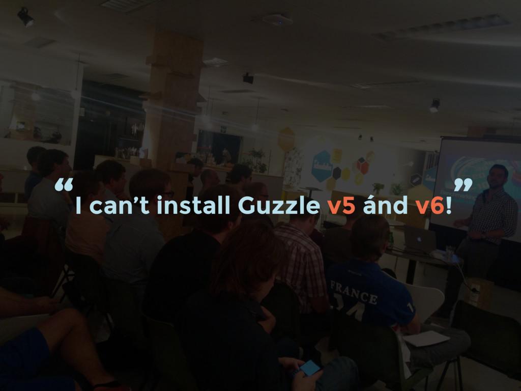 """""""I can't install Guzzle v5 ánd v6! """""""