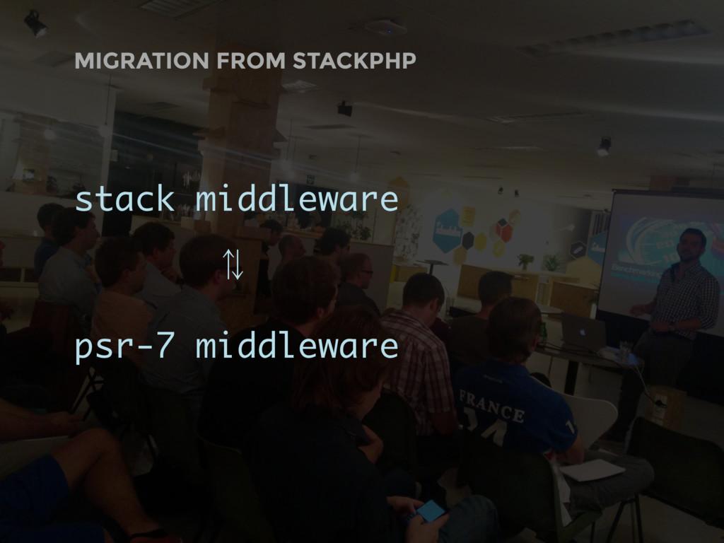 MIGRATION FROM STACKPHP stack middleware ⁷ psr-...