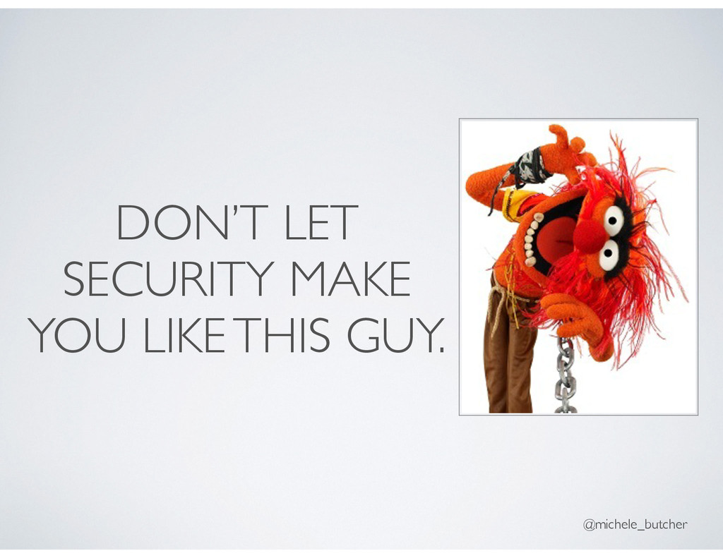 DON'T LET SECURITY MAKE YOU LIKE THIS GUY. @mic...