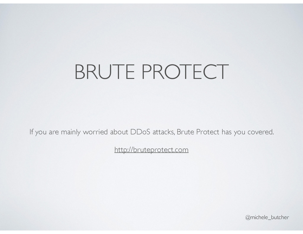 BRUTE PROTECT If you are mainly worried about D...