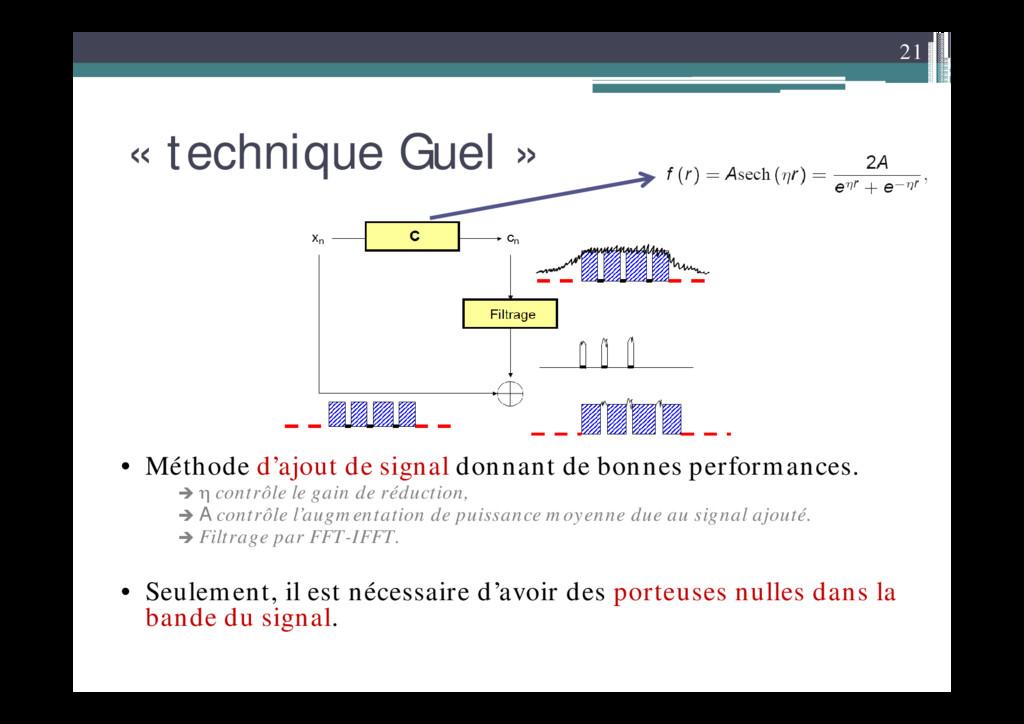 21 « technique Guel » • Méthode d'ajout de sign...