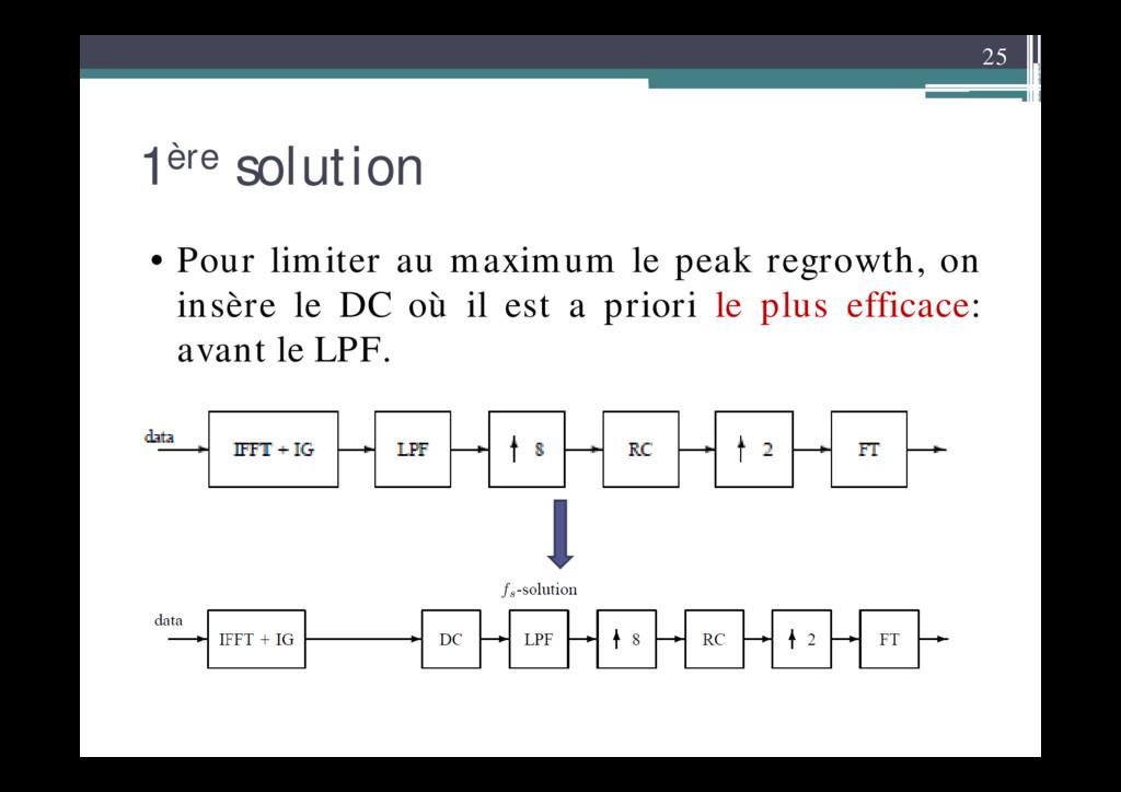 25 1ère solution • Pour limiter au maximum le p...