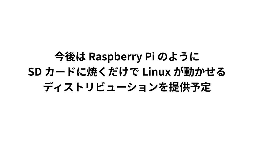 Raspberry Pi  SD Linux