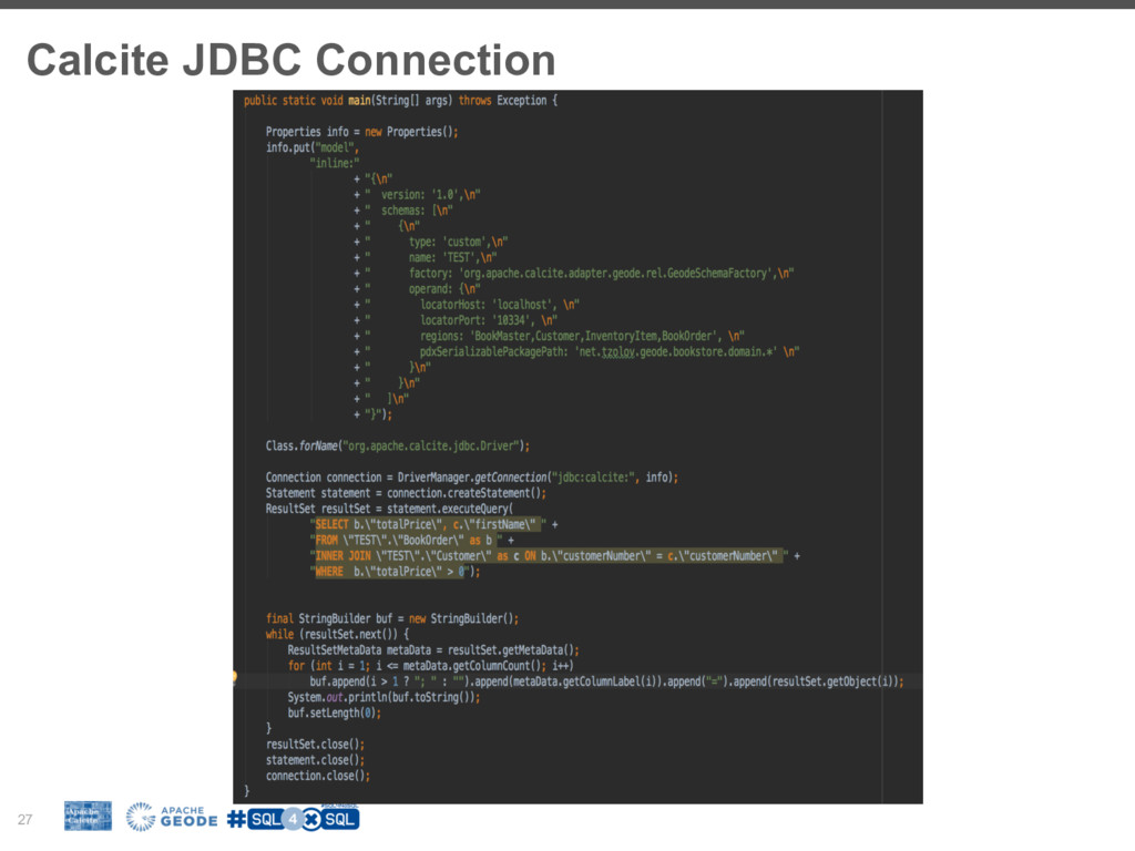 Calcite JDBC Connection 27