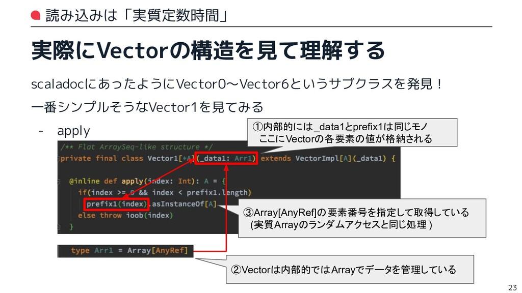 読み込みは「実質定数時間」 実際にVectorの構造を見て理解する scaladocにあったよ...