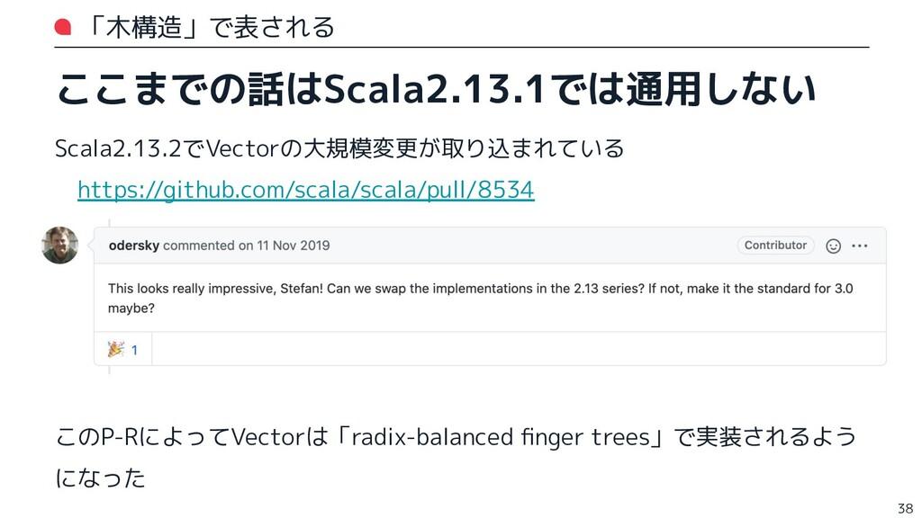「木構造」で表される ここまでの話はScala2.13.1では通用しない Scala2.13....
