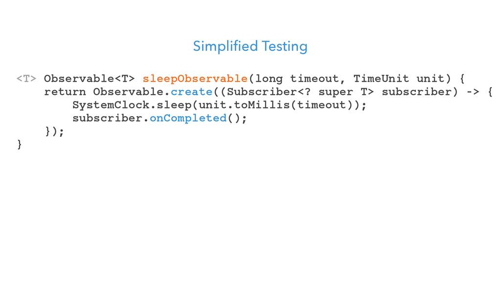 Simplified Testing <T> Observable<T> sleepObser...