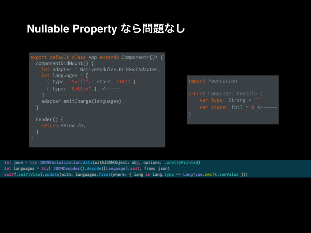 Nullable Property ͳΒ໰୊ͳ͠ export default class A...