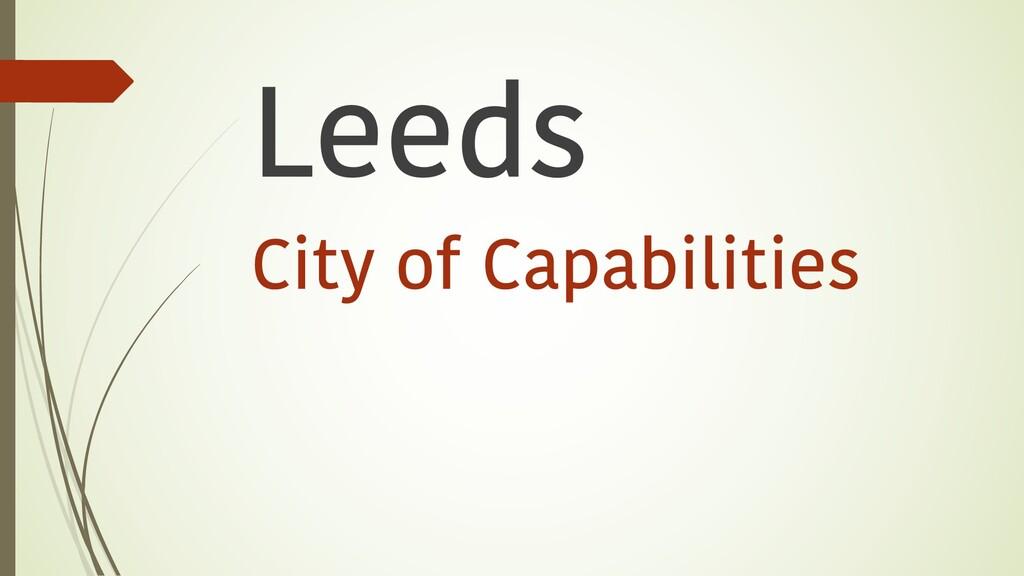 Leeds City of Capabilities