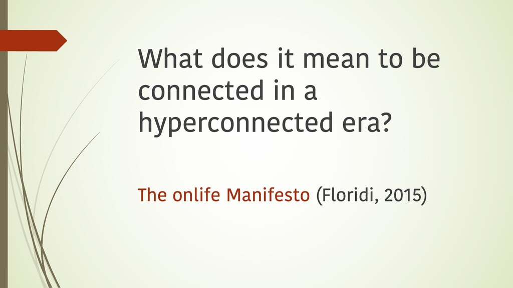 What does it mean to be connected in a hypercon...