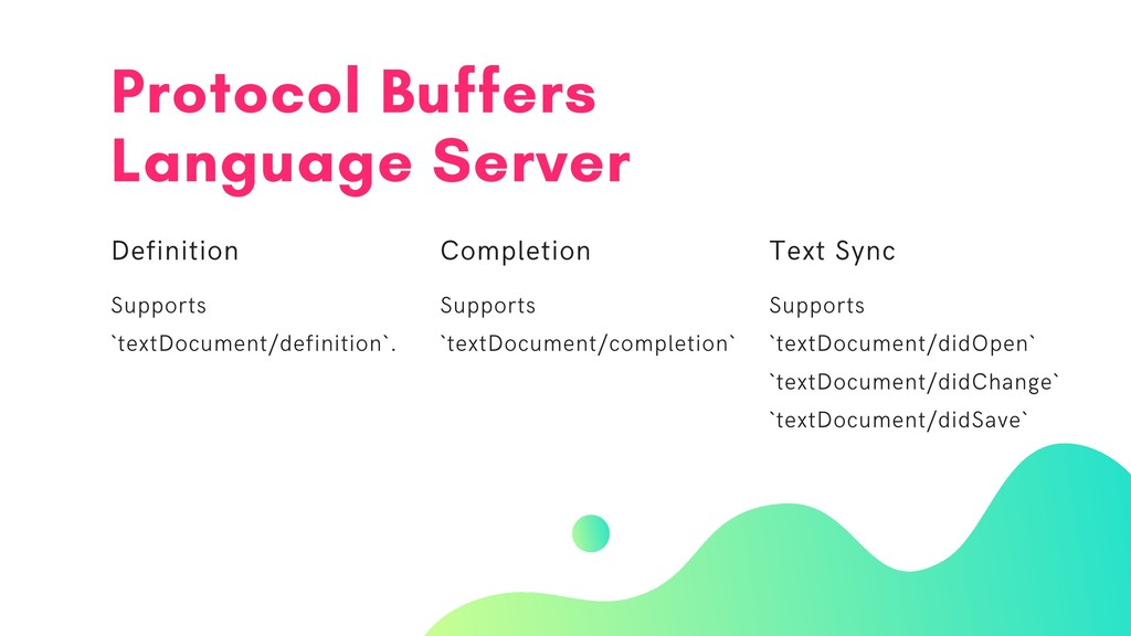 Protocol Buffers Language Server Definition Sup...