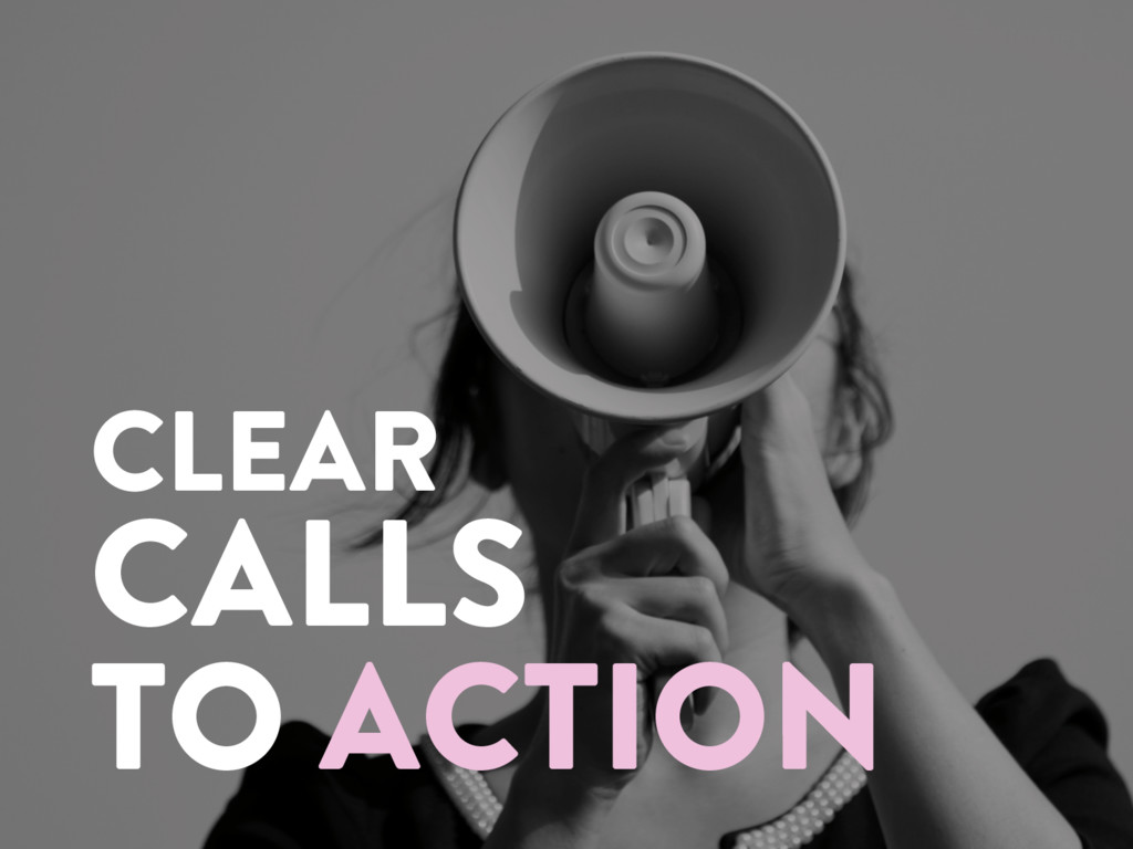 @marktimemedia CLEAR CALLS TO ACTION