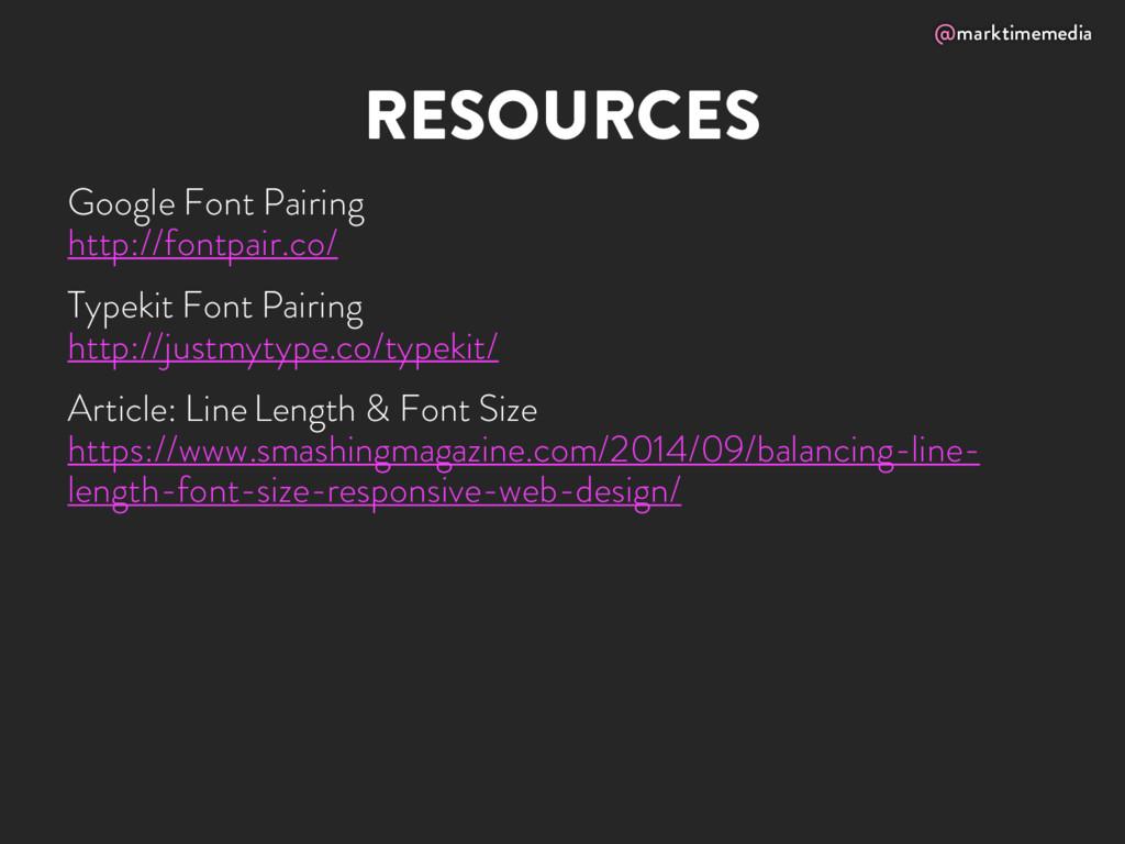 @marktimemedia RESOURCES Google Font Pairing ht...