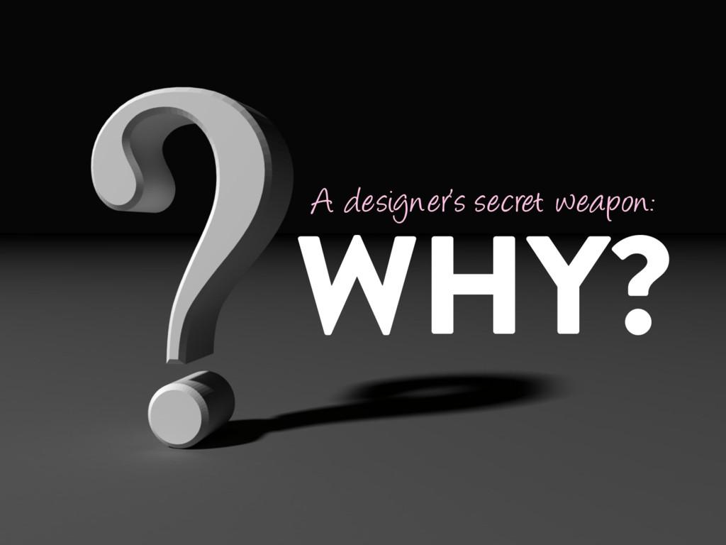 @marktimemedia WHY? A designer's secret weapon: