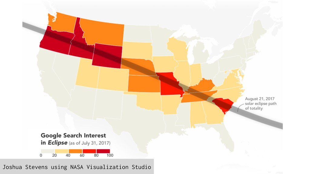 Joshua Stevens using NASA Visualization Studio