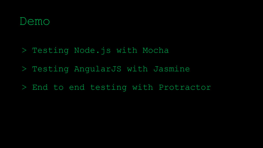 \ > Testing Node.js with Mocha > Testing Angula...