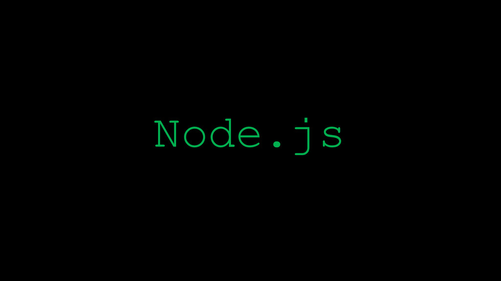\ Node.js