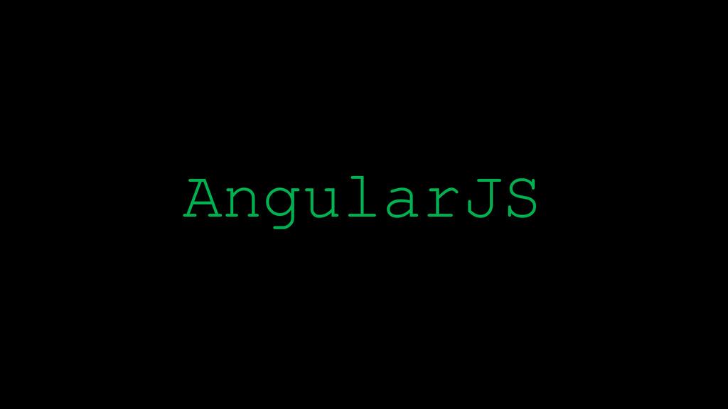 \ AngularJS